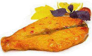 Стейк из лосося в устричном соусе
